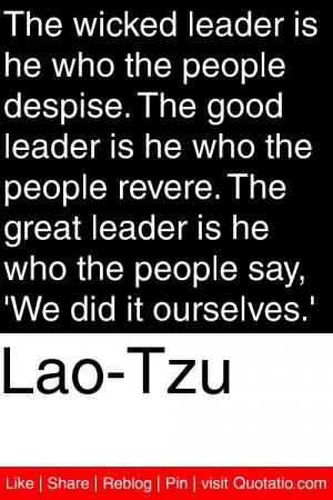 Lao Tzu Quotes On Leadership Quotesgram