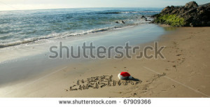 ... written-in-wet-sand-with-a-santa-hat-on-a-secluded-beach-in-southern