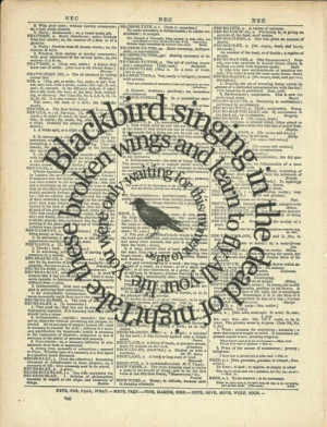 Blackbird- favorite song by the Beatles