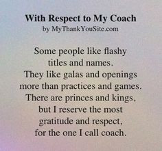 respect the coach quote | Thank you poem to coaches (cheer coaches ...