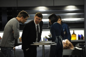 ... of David Boreanaz, Emily Deschanel and Geoff Stults in Bones (2005
