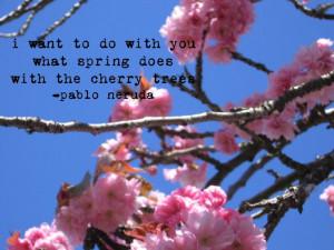 Cherries Blossoms, Blossoms Quotes, Quotes Pablo Neruda, Neruda Quotes ...