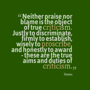 Most of our censure of others is only oblique praise of self