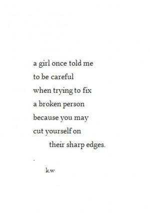 Don't get cut...