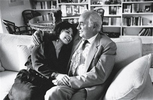 Allende with her husband, Willie, in 1994