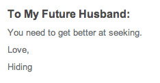 to my future spouse