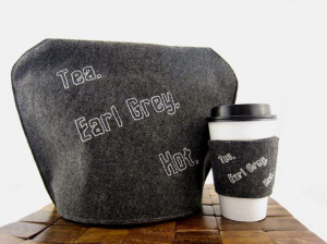 Captain Picard Quote Tea Cozy by CricketInTheEar on Etsy, $9.00