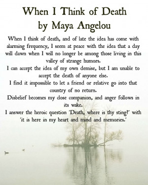 In Remembrance of Maya Angelou - What's Your Grief