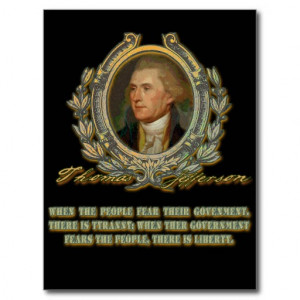 thomas jefferson quote government amp the people postcard