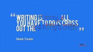 Mark Twain on writing.