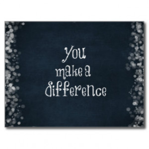 Make A Difference Quotes Inspirational