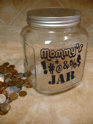 Mommy Daddy Family SWEAR JAR Vinyl Sticker Decal 5