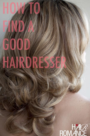 So how do you find the right salon for you?