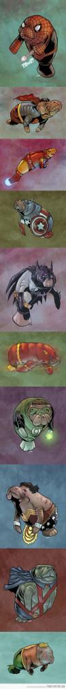 funny superheroes drawings cute