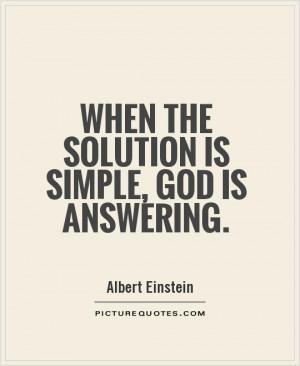 Albert Einstein Quotes God Quotes Solution Quotes