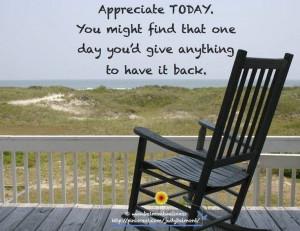 Appreciate today!!