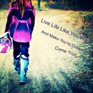 Motocross Quotes For Girls With her moto girl vibe.
