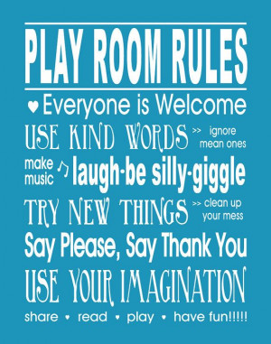 Girls Bedroom Quotes Dream Big AND Play Room Rules Print Set of (2) 8 ...