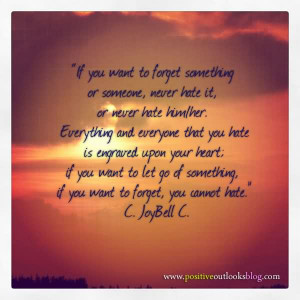 ... You Want To Forget Something or Someone, Never Hate It ~ Apology Quote