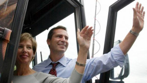 Ontario Liberal leader Dalton McGuinty and his wife Terri wave as they ...