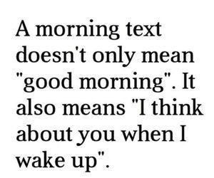 morning text doesn't only mean