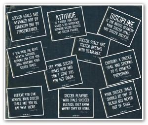 Soccer Goalie Sayings Soccer collage print on white