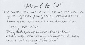 meant to be the couples that are meant to be are the ones who go ...