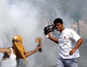 El opositor Leopoldo López protagonista de las Guarimbas del 11-A