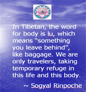 We are only travelers, taking temporary refuge in this life and this ...
