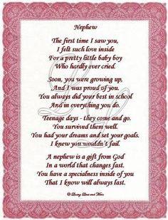 Nephew Love Quotes, Aunt And Nephew Quotes, Niece And Nephew Quotes ...