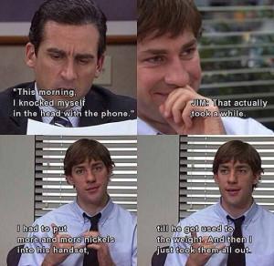 Jim's pranks on Dwight
