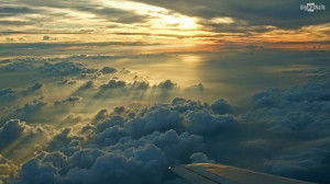 An awesome picture of sunset taken from a plane. Download this sunset ...