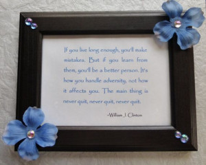 Never Quit Inspirational Quote Picture Frame by ILoveItandMore, $24.00
