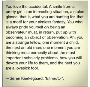 Philosopher Kierkegaard quote