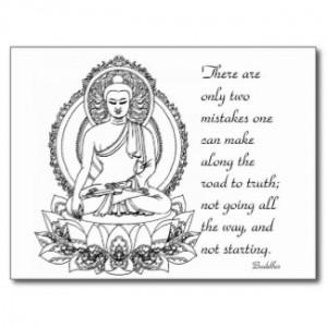 Siddhartha Gautama Buddha ~ Road Quote Postcards by ZazzleDazzles