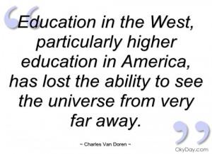 education in the west charles van doren