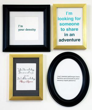 DIY Geek Art - Geeky Love Quotes