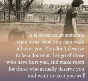 Don't be a doormat..