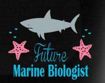 ... Glossy Outdoor Vinyl Sticker / Shark and Starfish Marine Biology