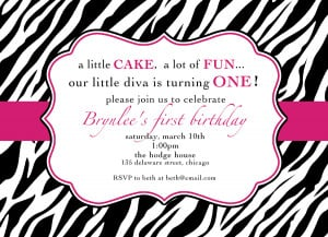 1st birthday invitation quotes for girls