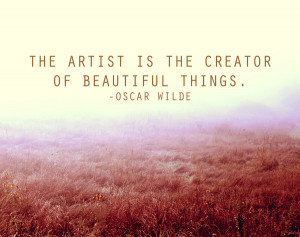 Oscar Wilde Artist Quote in a Peaceful Field Print Art Print