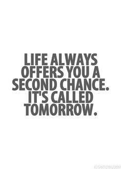 Second Chances.....