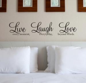 Live Laugh Love - Wall Art Sticker | Wall Quote - WA088X