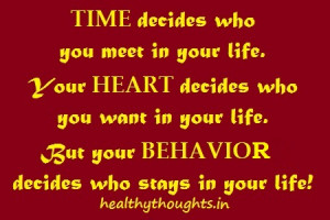 life quotes_time decides who will come in your life