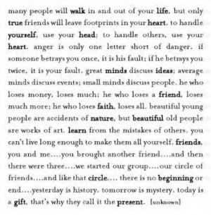 True Friends Will Leave Footprints In Your Heart