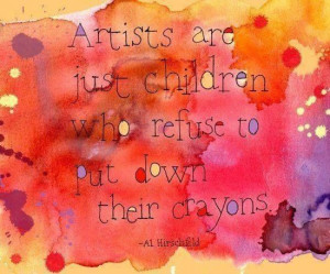 ... children who refuse to put down their crayons