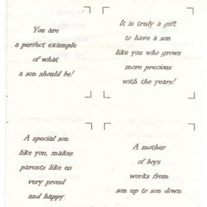 Talking Quilts Mini Son Quotes 3 1/2 inch
