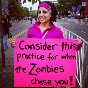 25 Funniest Running Signs At A Race: #7. Consider this for when the ...
