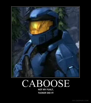 Caboose Red Vs Blue Caboose by crosknight