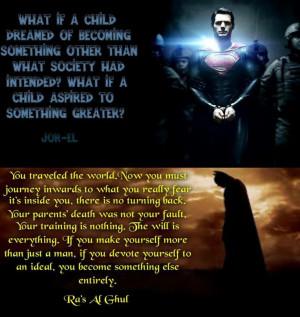 Jor-El & Ra's Al Ghul Quotes on Superman & Batman